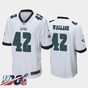 Philadelphia Eagles K'Von Wallace White Jersey